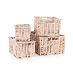 NEAT White Wash Storage Baskets Set of 4