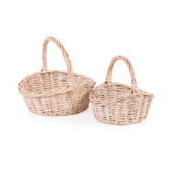 NEAT White Wash Childs Shopper Set of 2