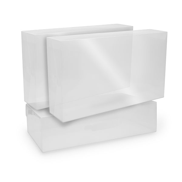 Pack of 3 Clear Stackable Boot Boxes No Colour