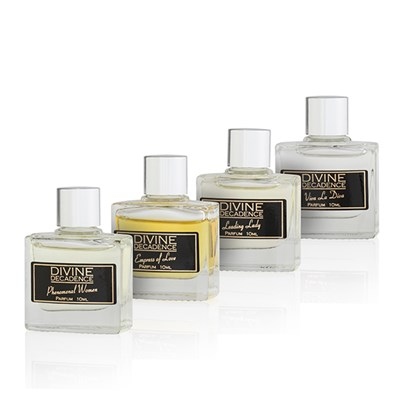 Divine Decadence 4 Miniature Parfum Fragrances For Her Gift Box 4 x 10ml