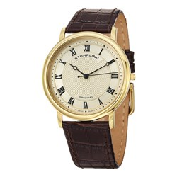 Stuhrling Gents Symphony Watch with Slimline Case and Alligator Effect Leather Strap
