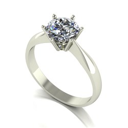 Moissanite 9ct Gold 1.25ct eq Finesse Solitaire Ring