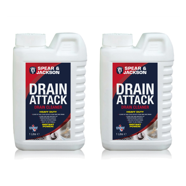 Spear and Jackson Drain Cleaner 2 x 1 Litre No Colour