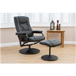 Birlea Memphis Swivel Massage Recliner Chair with Heat and Stool