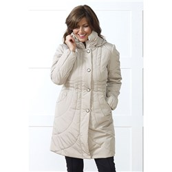 Lavitta Long Shimmer Hooded Coat 34.5""