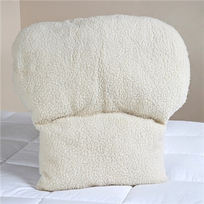 Faux Sheepskin Lumbar Support Back Rest Cushion