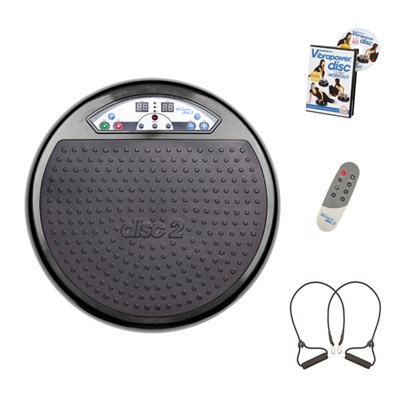 Vibrapower Disc 2 with Resistance Bands and Remote Control plus FREE Vibrapower Disc DVD