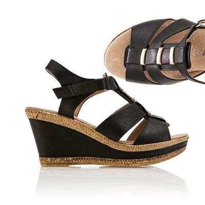 Cushion Walk Comfort Gladiator Wedge Sandal