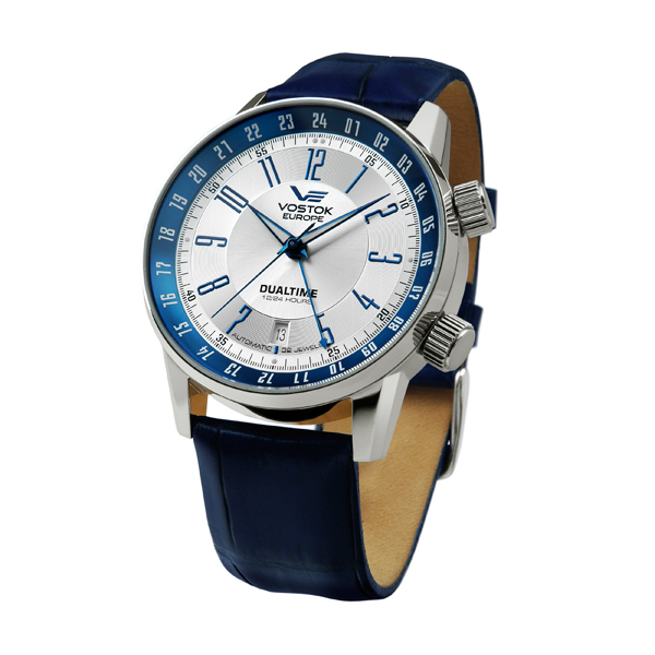 Vostok Europe Limited Edition Gents Gaz Limo Russian 2426 Automatic Watch with Leather Strap Blue
