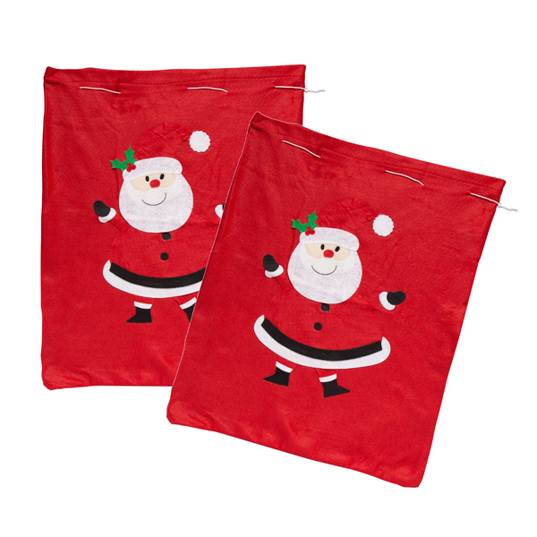 Santa Sacks x 2 No Colour