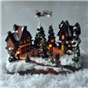 Christmas Village with Flying Sleigh and Sound