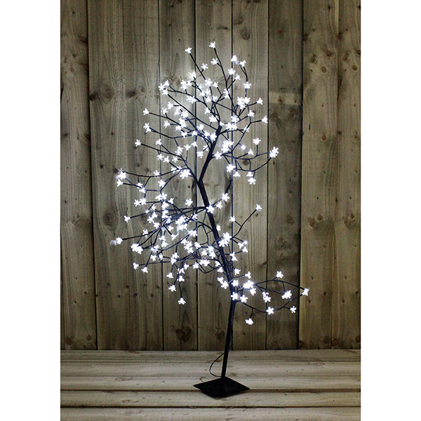 White Blossom LED 150cm Bonsai Tree No Colour