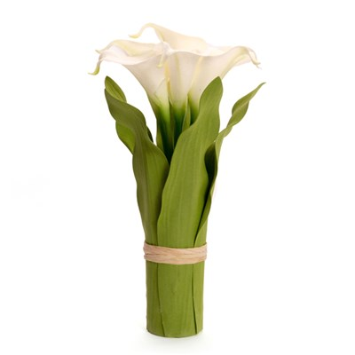 Blossom Collection Calla Lily Hand Tied with 7 LED Lights (Scented)