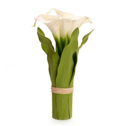 Calla Lily Hand Tied with 7 LED Lights (Scented)