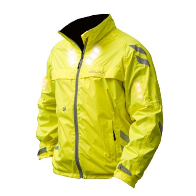Visijax LED Commuter Jacket with Motion Activated Turn Signals and ICEid Tag
