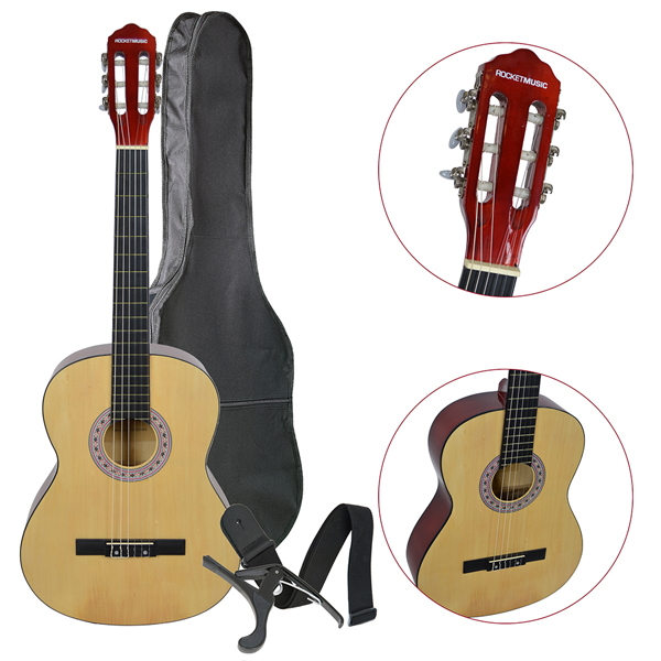 Rocket XF Series 4/4 Classical Spanish Guitar Pack No Colour