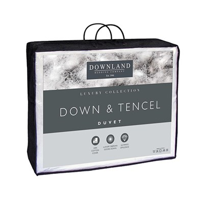 Downland Tencel and Down Luxury 10.5 Tog Duvet Single