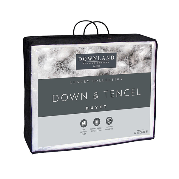 Downland Tencel and Down Luxury 10.5 Tog Duvet Single No Colour