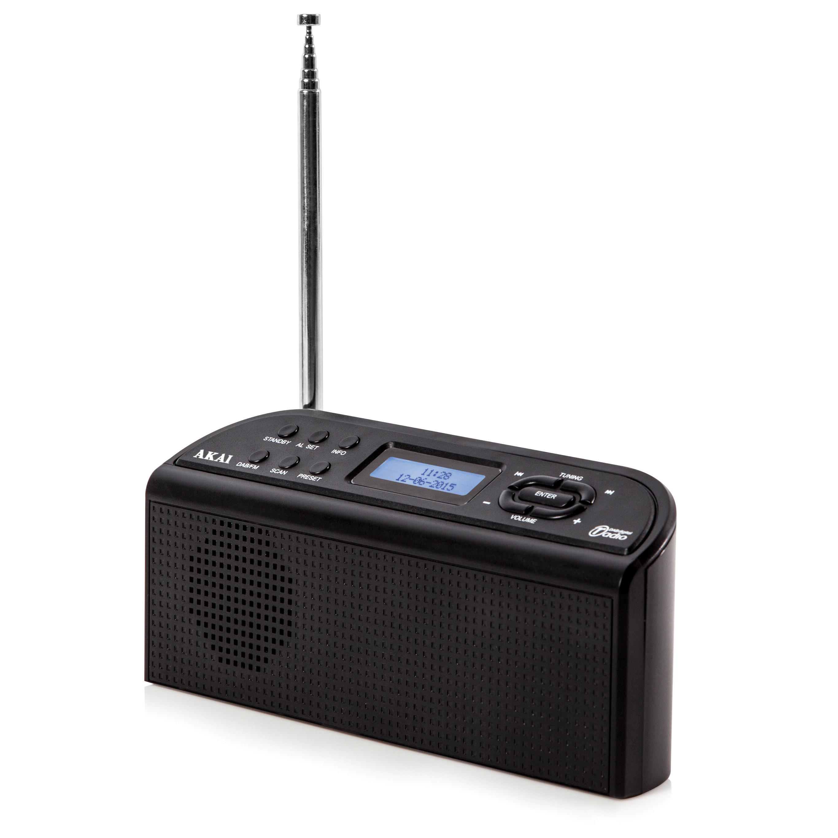 Akai Dab Digital Radio - Black No Colour
