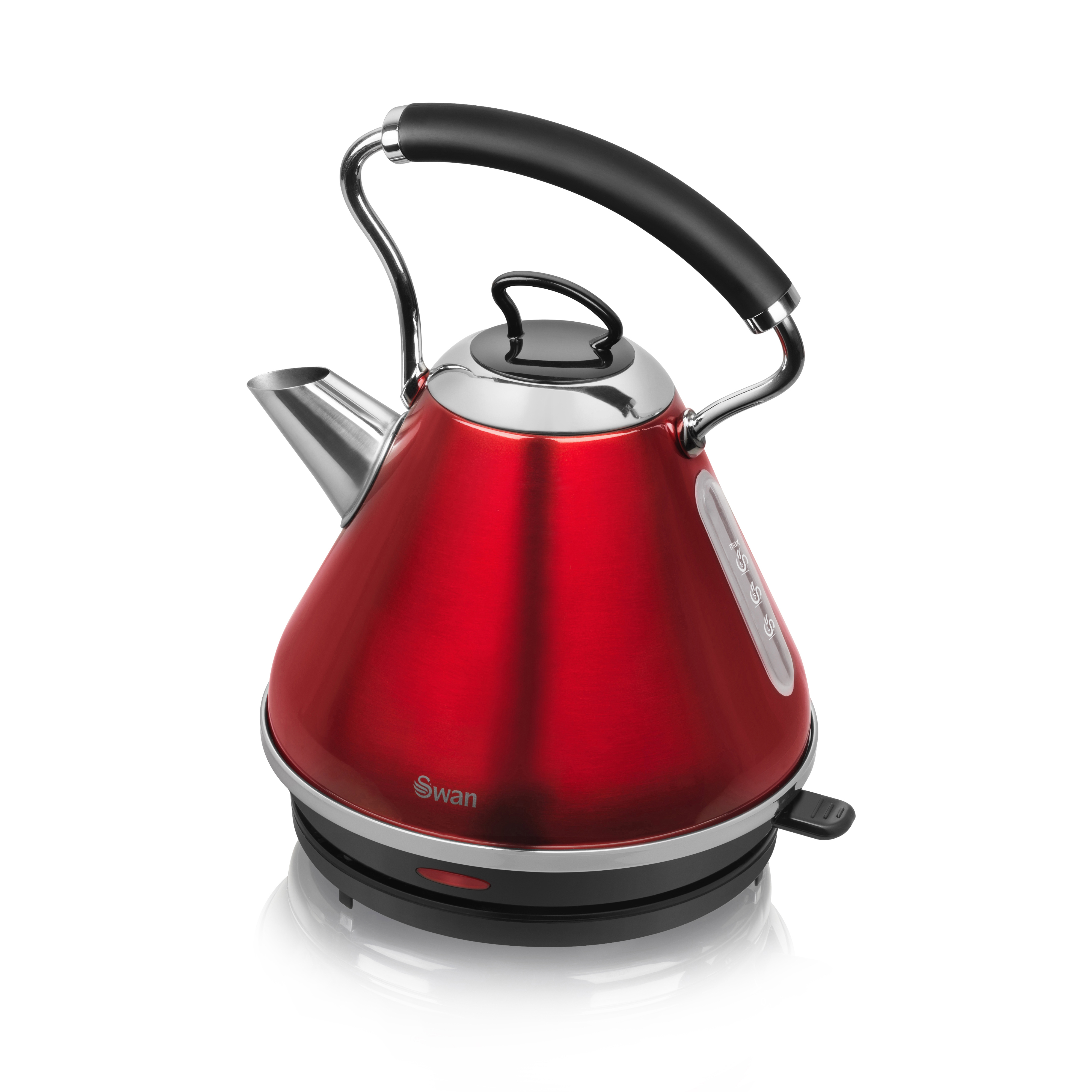 Swan 1.7 Litre Red Pyramid Kettle - Red No Colour