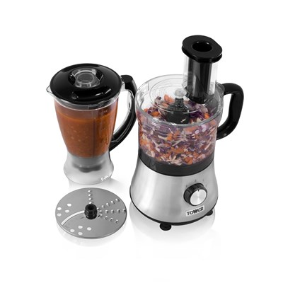 Tower 2 In 1 Food Processor - Black