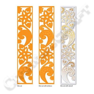 Tonic Double Detail Die and Stencil Set - Decorative Daffodil