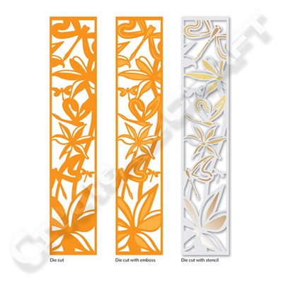 Tonic Double Detail Die and Stencil Set - Exotic Lily