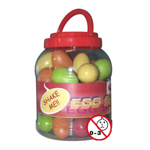 A-Star Multicoloured Egg Shakers - Box of 40 No Colour
