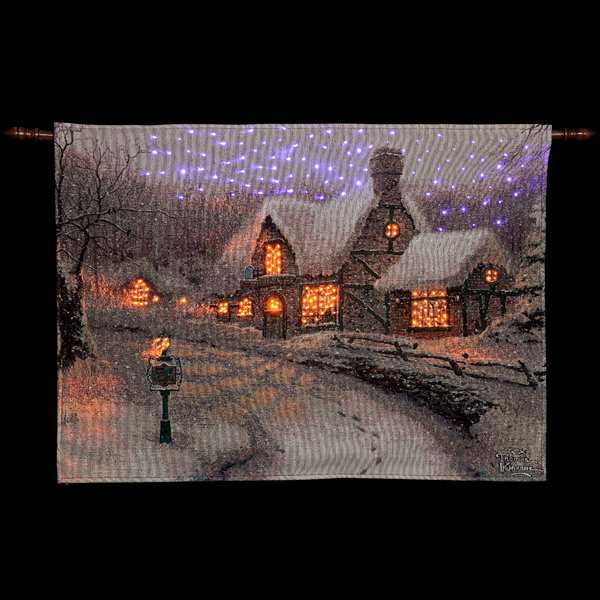 Olde Porter Field Gift Shoppe Hanging Tapestry by Thomas Kinkade - 36 x 26 inch No Colour