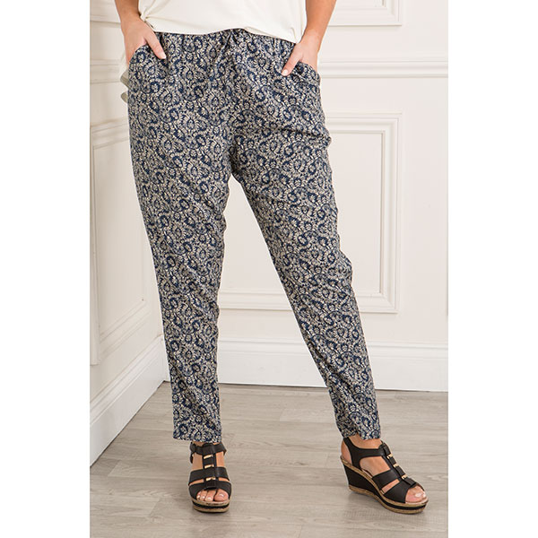 Printed Trousers Leaf