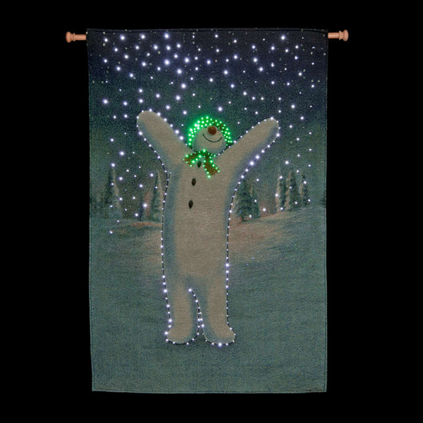 Snowman Coming Alive Wall Hanging Tapestry - 87cm x 57cm No Colour