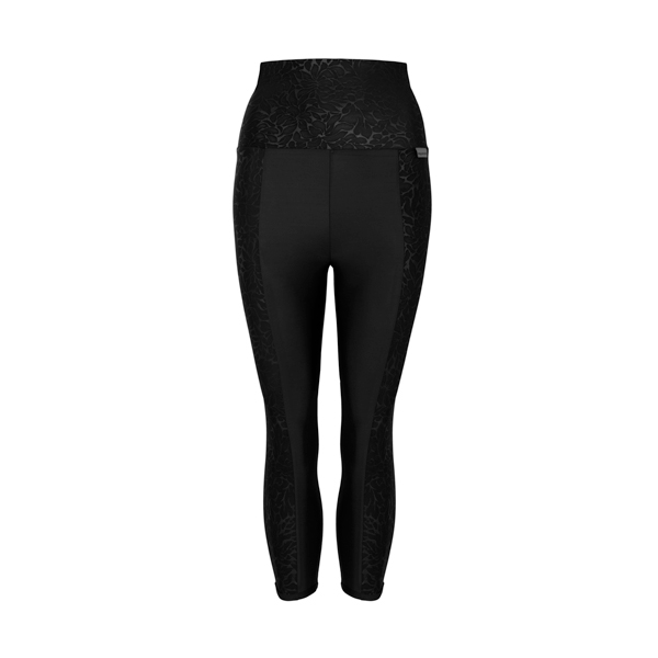 Proskins Intelligent Slim Range High Waisted 3/4 Length Leggings Black Luxe