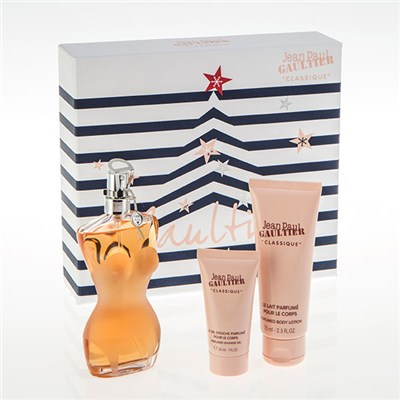 Jean Paul Gaultier Classique Eau De Toilette Spray 100ml, Perfumed Body Lotion 75ml and Perfumed Shower Gel 30ml