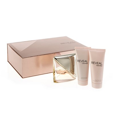 Calvin Klein Reveal Femme Eau De Parfum Spray 100ml, Shower Gel 100ml and Body Lotion 100ml