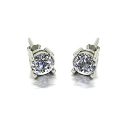Moissanite 9ct Gold 1.50ct eq Finesse Solitaire Earrings