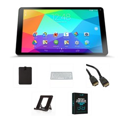 GoTab 10.1 inch 16GB Quad Core Tablet, Android 4.4, HDMI Output, Bluetooth Keyboard, Stand, Security Software, Case and HDMI Cable