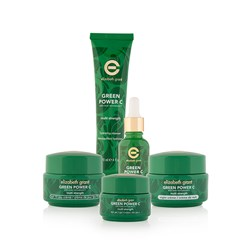 Elizabeth Grant Green Power NEW Multi Strength 10 Full Face Collection - Day Creme 50ml, Night Creme 50ml, Serum 30ml, Eye Gel 30ml and Cleanser 120ml