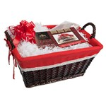 Kensington Giftware Co. Wood Weave Christmas Hamper Kit with Handles