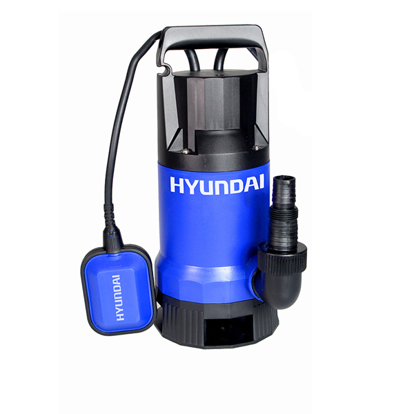 Hyundai 850W Dirty Water Pump with Plastic Body & 38mm Hose Fitting No Colour