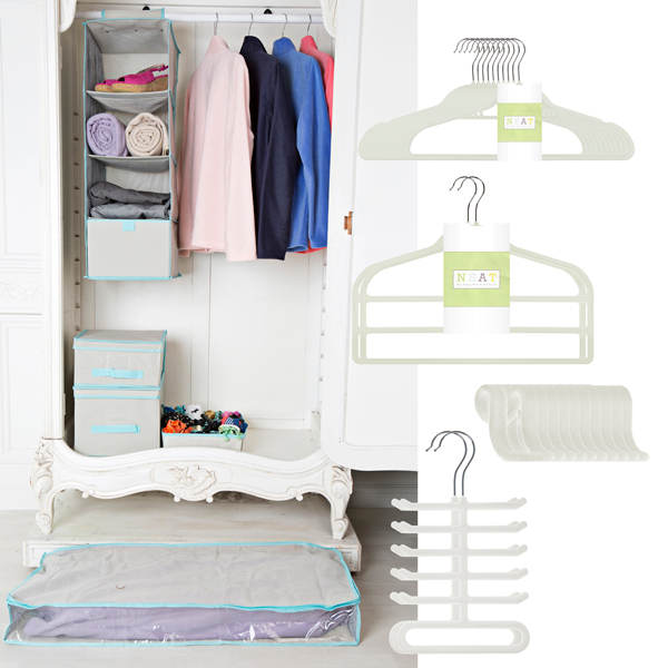 Neat Mega Wardrobe Organisation Bundle Cream
