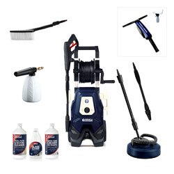 Spear and Jackson Premium 2000w Pressure Washer with Turbo Lance, Vario Lance, Patio Cleaner, Super Foamer, Wash Brush, 3 x Detergents and Window Vac