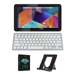Hannspree 10.1 inch 8GB Quad Core Tablet Bundle with Bluetooth Keyboard, Stand and Security Software