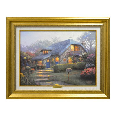 Thomas Kinkade Lilac Cottage Limited Edition Canvas Print