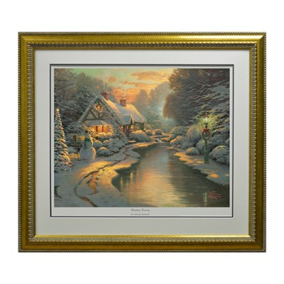 Thomas Kinkade Christmas Evening Limited Edition Print