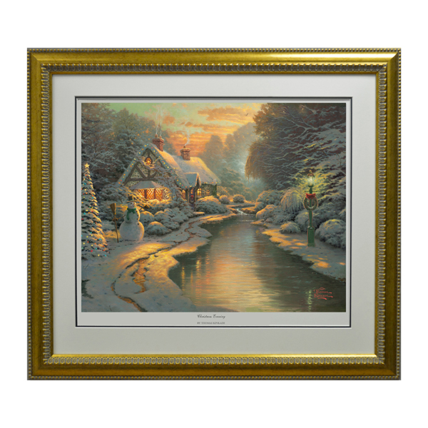 Thomas Kinkade Christmas Evening Limited Edition Print No Colour