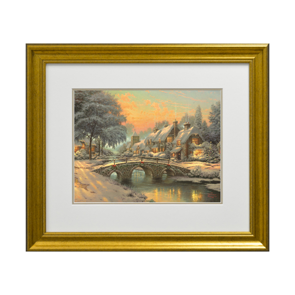 Thomas Kinkade Cobblestone Christmas Open Edition Print Traditional