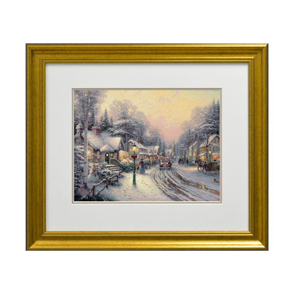 Thomas Kinkade Village Christmas Open Edition Print Traditional