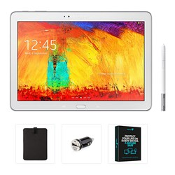Samsung Galaxy Note 4 10.1 inch 16GB Tablet, USB Car Charger, Protective Sleeve and Security Software