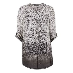 Bonmarche 3/4 Zebra Pull On Shirt