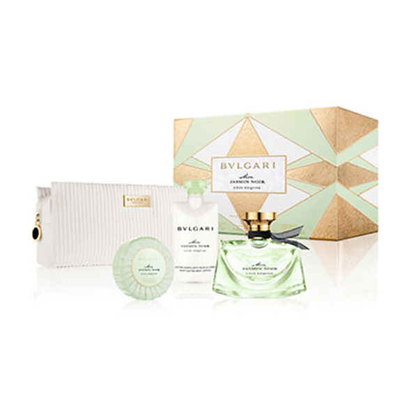 Bulgari Mon Jasmin Noir L'Eau Exquise Set With Beauty Pouchmon - EDT Spray 75ml, Body Lotion 75ml, Scented Soap 75g No Size